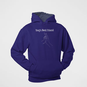 dog's best friend comfortable cotton hoodie for dog lovers