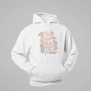 Floof heaven hoodie for dog lovers