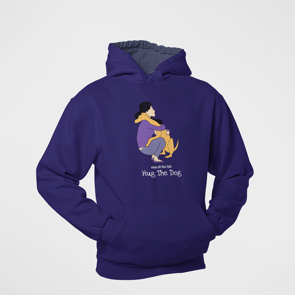 Floof hug the dog cotton hoodie for dog lovers