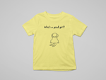 who's a good girl cotton tshirt for kids floof