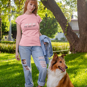 floof dog vibes only cotton t-shirt for dog lovers
