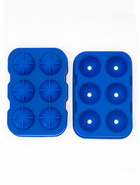Mould - Ice Ball Blue Silicone - 6 Cavity - Beaumont SA