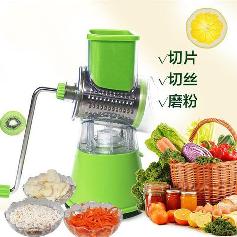 Multifunctional Roller Vegetable And Fruits Slicer | Manual Vegetable Shredder