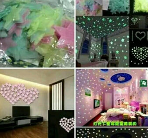 Glow In The Dark Wall Stickers | Luminous Stars Home Decor