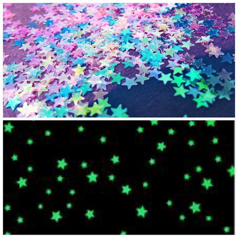 Glow In The Dark Stars Wall Stickers (3.8cm) | Luminous Stars Home Decor - Ginax Store