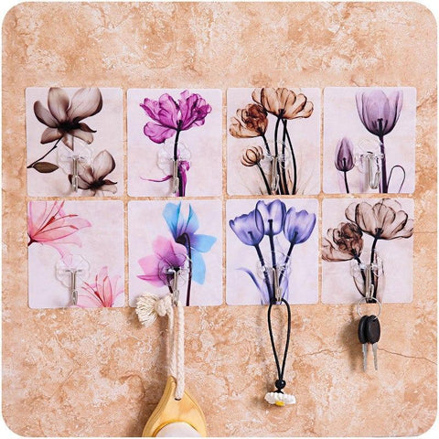 Strong Adhesive Wall Hooks | Beautiful Glass And Tile Stickers - Ginax Store