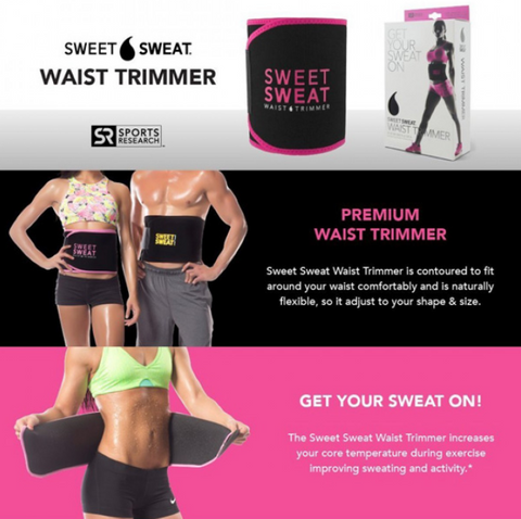 Sweet Sweat Premium Waist Trimmer Belt | Sports Fitness Belt