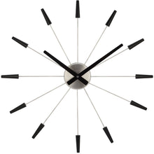 Load image into Gallery viewer, NeXtime - Wall clock – Ø 58 cm- Stainless Steel - Plastic - Black - 'Plug Inn'