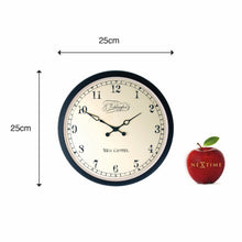 Load image into Gallery viewer, NeXtime - Wall clock –  Ø25 cm - Metal - Glass - Black - 'Aaltje'