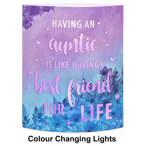 Starlight Auntie Birthday Gift Light Up Mantel Plaque