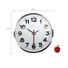 Load image into Gallery viewer, NeXtime - Wall clock- Ø 55 cm - Stainless Steel - 'Super Station Numbers'
