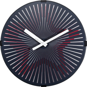 NeXtime - Wall clock- Ø 30 cm – Plastic – Motion clock-  Red – 'Motion Star – Red'