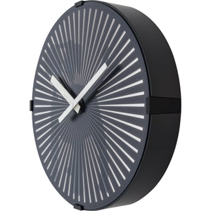 NeXtime - Wall clock- Ø 30 cm – Plastic – Motion Clock- Black – 'Dog'