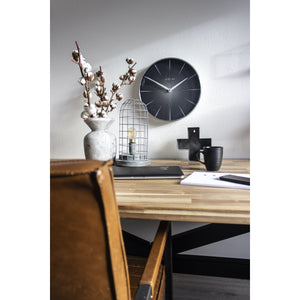 NeXtime - Wall clock - Ø 40 cm - Metal - Black - '2 Seconds'