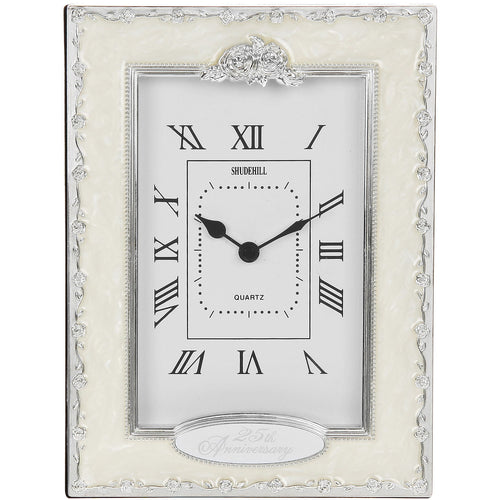 25th Anniversary Table Clock