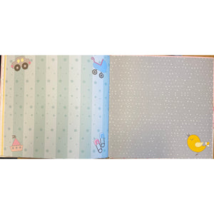 Baby Record Book in Blue