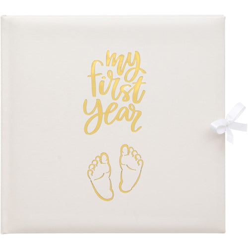 Baby Record Book in White