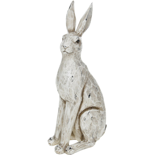 Large Cream Sitting Hare