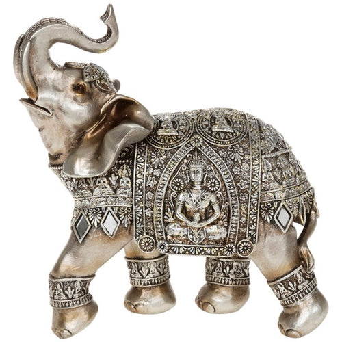 Decorative Gold and Silver Elephant Ornament