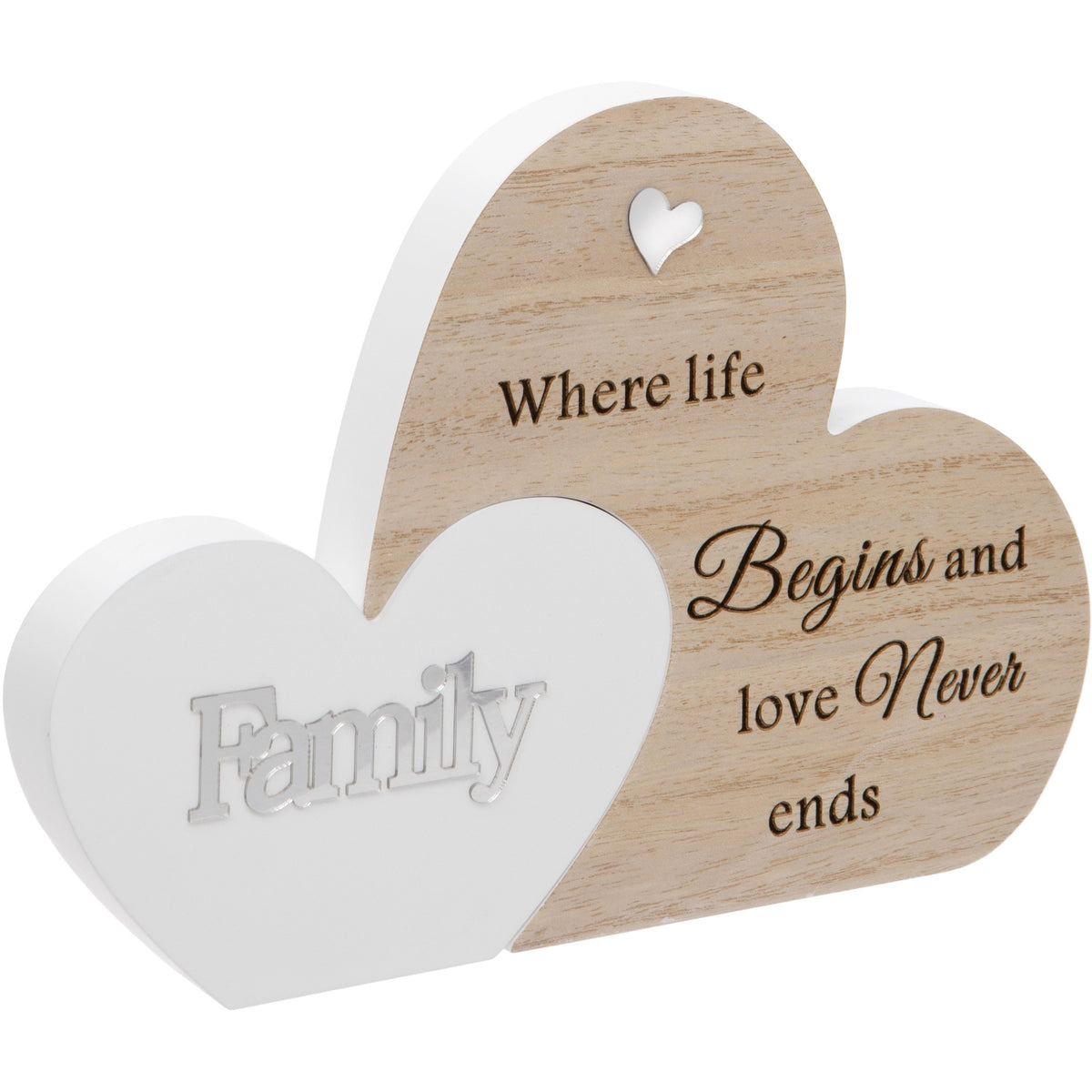Family Double Interlocking Hearts Plaque
