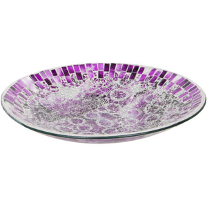 Purple Crackled Glass Mosaic Decorative Plate