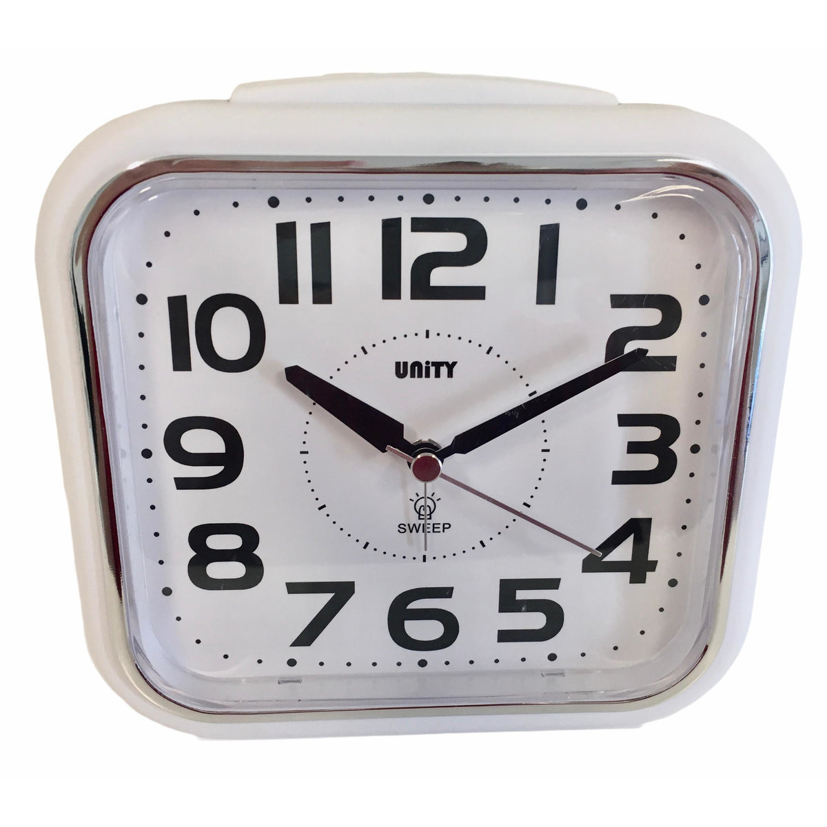 Large Bold Alarm Clock in White