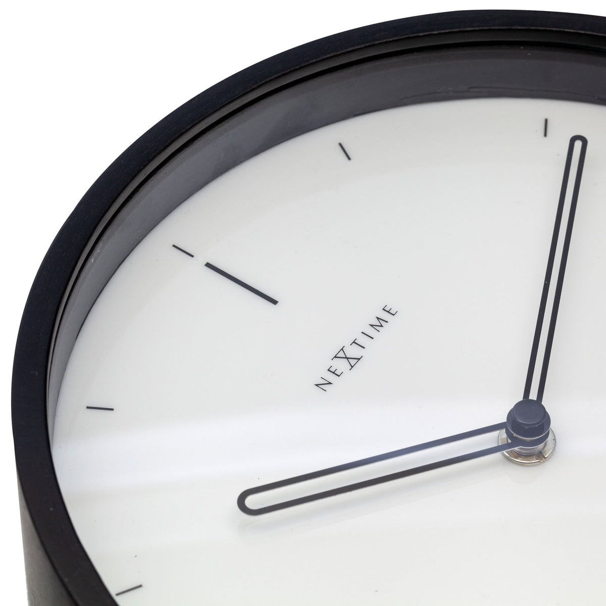NeXtime- Table clock - 27 x 21 x 6,5 cm - Wood - White - 'Noa Table'