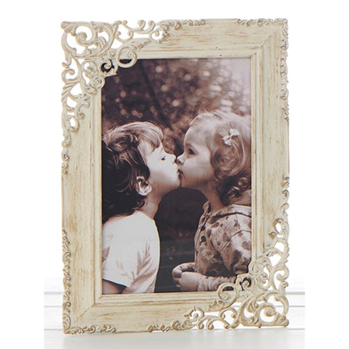 Vintage Cream Lace Design Wooden Photo Frame