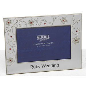 Ruby Wedding Anniversary Silver Frame