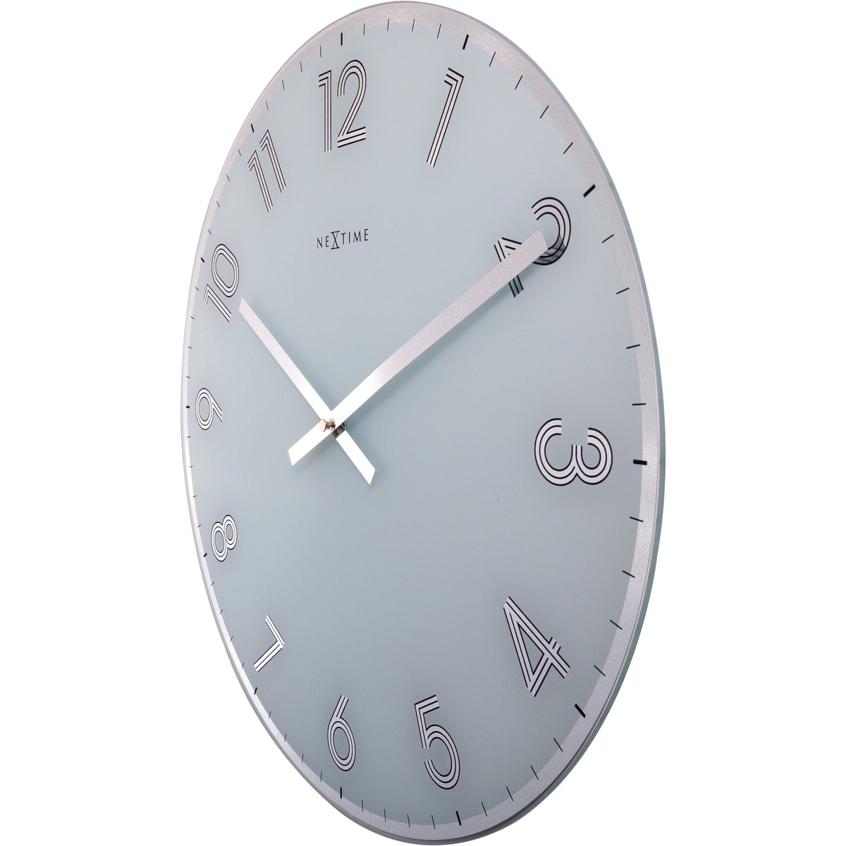 NeXtime - Wall clock - Ø 43 cm - Glass - White - 'Reflect'
