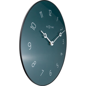 NeXtime - Wall clock - Ø 40 cm - Glass / Metal - Grey - 'Carousel'