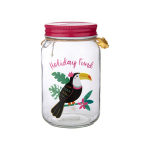 Sass and Belle Tiki Toucan Holiday Fund Money Jar