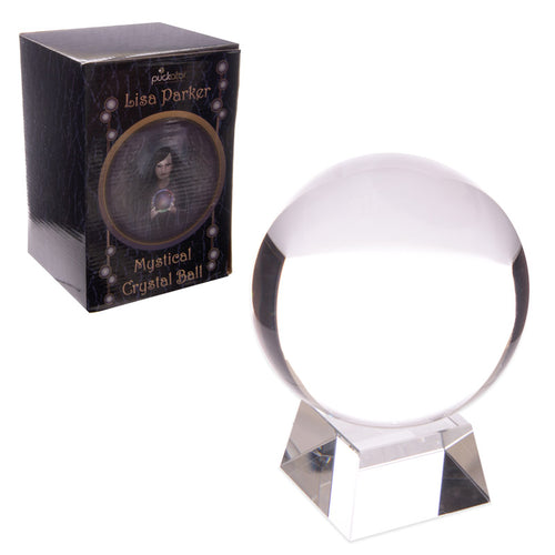 Lisa Parker Glass Crystal Ball with Stand 10cm