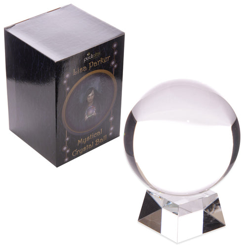 Lisa Parker Glass Crystal Ball with Stand 14cm