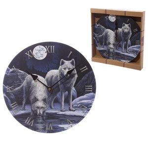 Lisa Parker Warriors Of Winter Wolf Wall Clock