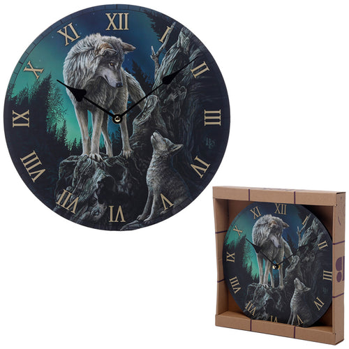 Lisa Parker Guidance Wolf Design Wall Clock