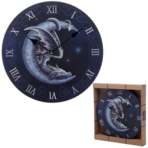 Lisa Parker Sweet Dreams Dragon And Moon Wall Clock
