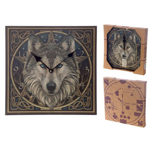 Lisa Parker Celtic Wolf Head Wall Clock