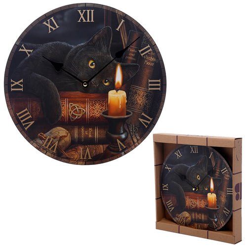 Lisa Parker Witching Hour Cat Wall Clock