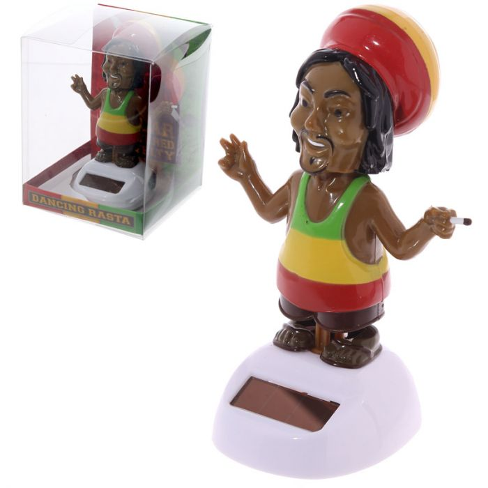 Solar Powered Rasta Figurine