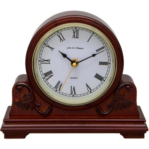 Buckingham Scroll Style Walnut Mantel Clock