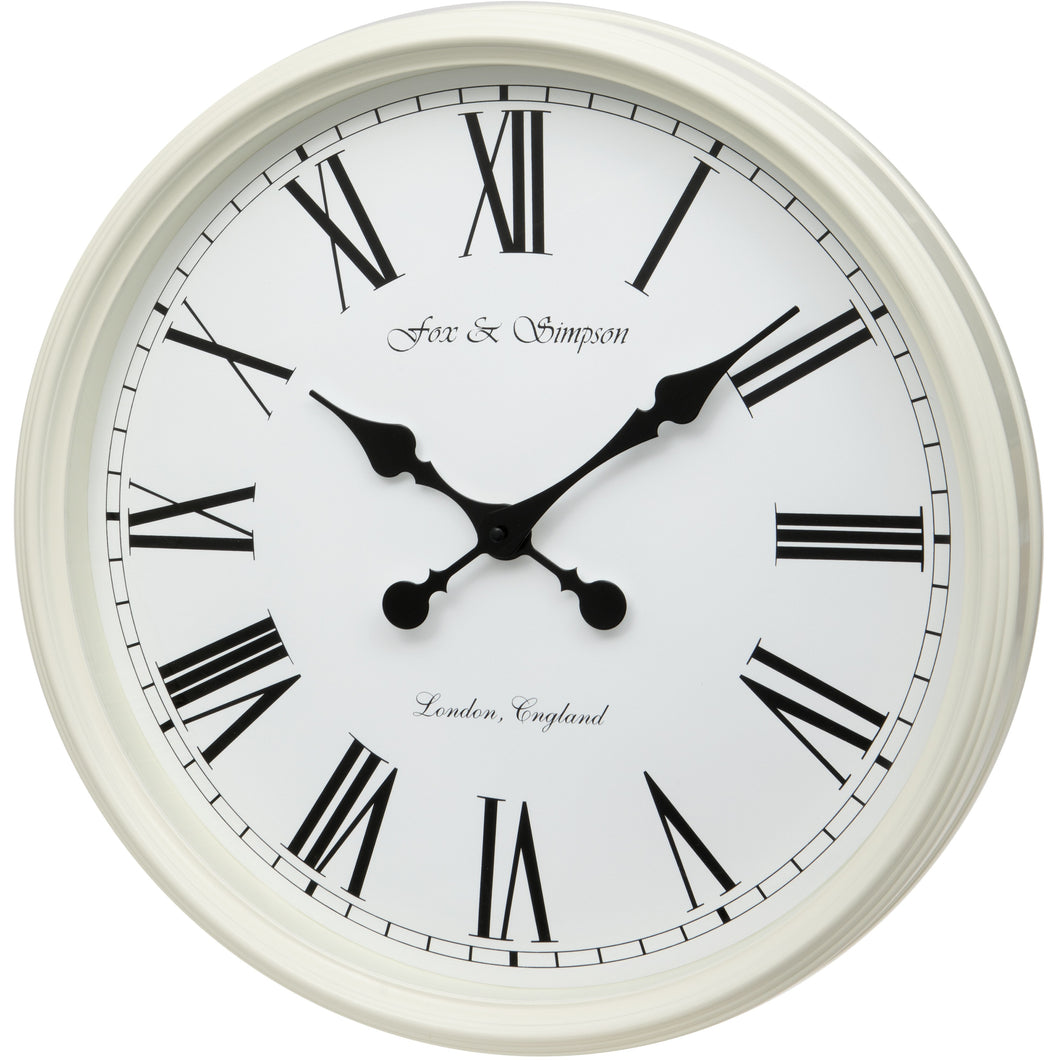 Cream Grand Central Station Wall Clock