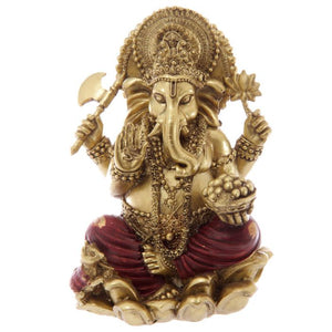 Gold and Red Ganesh Statue