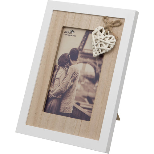 Woven Heart Wooden Photo Frame 6 x 4-Inch / 10 x 15 cm