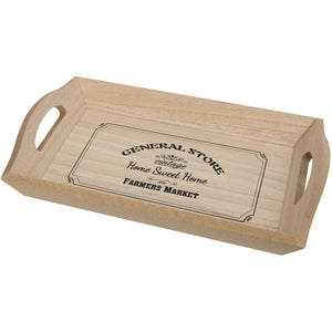 Woven Heart General Store Wooden Serving Tray with Handles