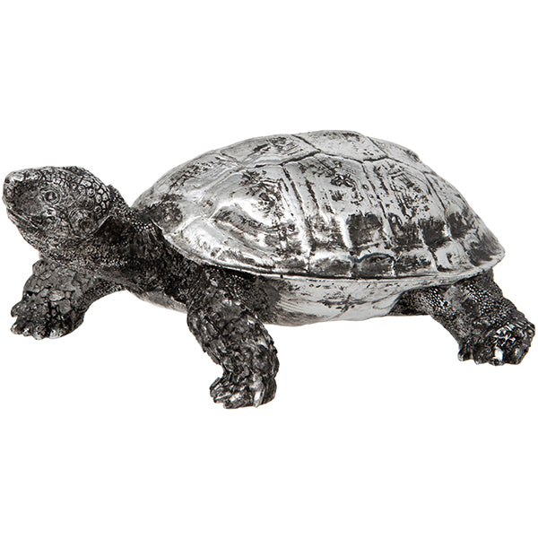 Silver Turtle Ornament