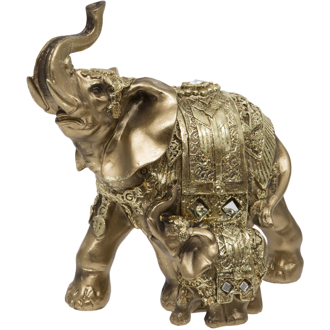 Gold Elephant and Calf