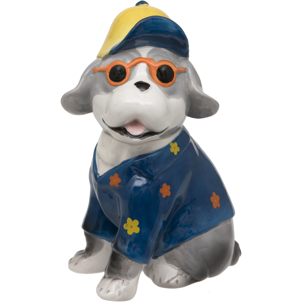 Yellow Cap Blue Dog Trinket