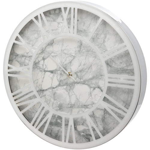 Grey Marble Effect 40cm Wall Clock