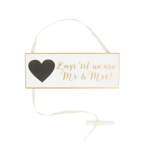 Mr and Mrs Wedding Countdown Plaque